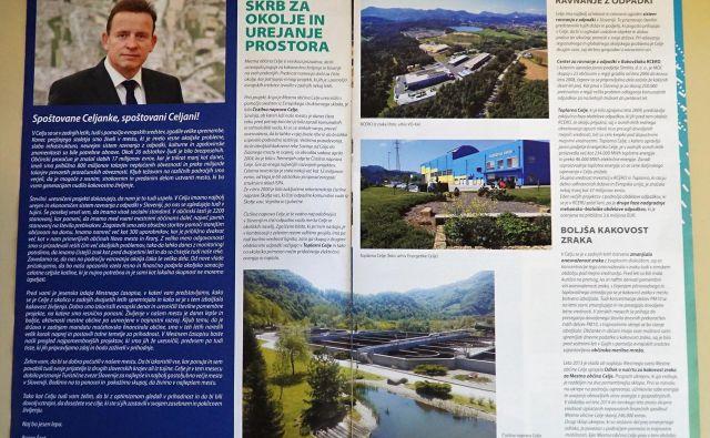 Sporni predvolilni Mestni časopis, ki ga je na prvi dan volilne kampanje izdal županov kabinet. FOTO: Brane Piano