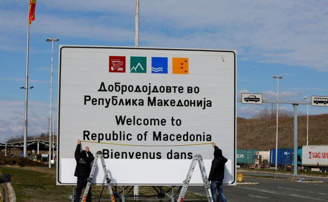 Dobrodošli v Republiki Makedoniji se po novem glasi Dobrodošli v Republiki Severni Makedoniji. FOTO: Ognen Teofilovski/Reuters