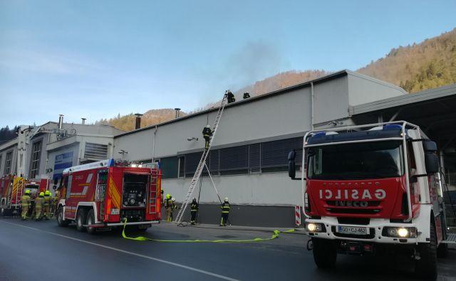 Poveljnik PGD Spodnja Idrija<strong> </strong>Rober Jereb je dejal, da je požar podoben tistemu izpred slabega pol leta. FOTO: Anja Intihar/Delo