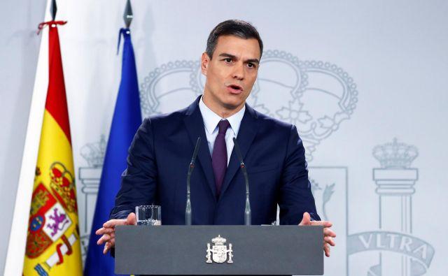 Španski predsednik vlade Pedro Sánchez je predčasne volitve sklical po današnji seji vlade. FOTO: Juan Medina/Reuters