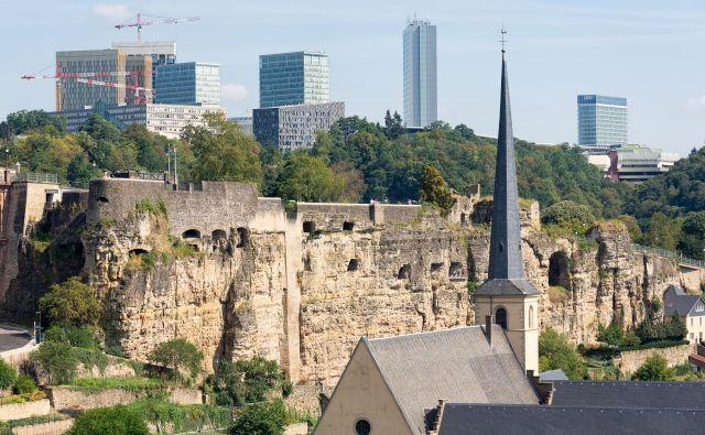 Podobo Luxembourga zaznamujejo žerjavi, gradbišča, trušč, kazalci nezadržnega gospodarskega razvoja. FOTO: Shutterstock