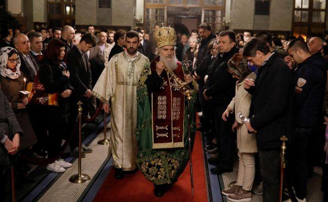 Srbska pravoslavna cerkev tožbe ne komentira, ker tega ni blagoslovil patriarh Irinej. FOTO: Reuters