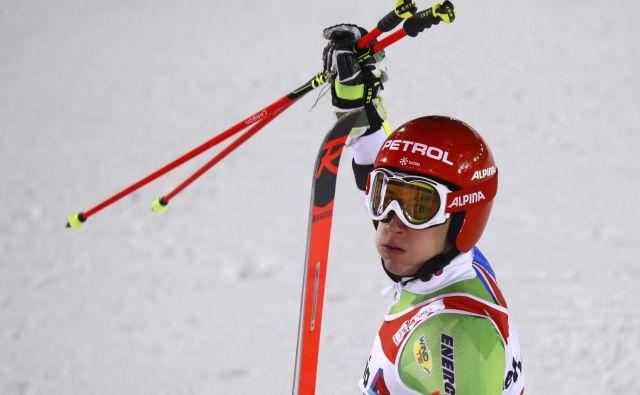Žan Kranjec je v finalu pridobil še eno mesto. FOTO: Leonhard Föger/Reuters