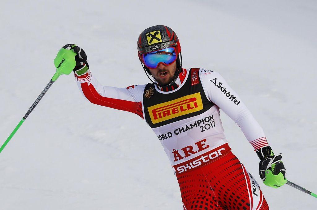 FOTO:Hirscher prvak ob trojni avstrijski zmagi, Kranjcu 2. čas na drugi progi