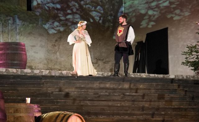 Muzikal Veronika Deseniška je na Stari grad privabil več kot 19.000 ljudi. Društvo je zanj na občinskem razpisu dobilo 1250 evrov, iz županovega kabineta še 5000 evrov. Postavitev ene predstave stane okoli 16.000 evrov. FOTO: Brane Piano/Delo