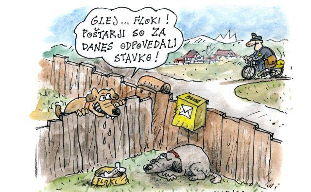 Karikatura Foto Marko Kočevar Delo