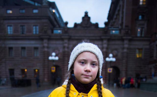 Greta Thunberg med šolsko stavko. FOTO Reuters