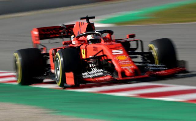 Sebastian Vettel je bil najhitrejši, obenem je zbral največ krogov. FOTO: Albert Gea/Reuters