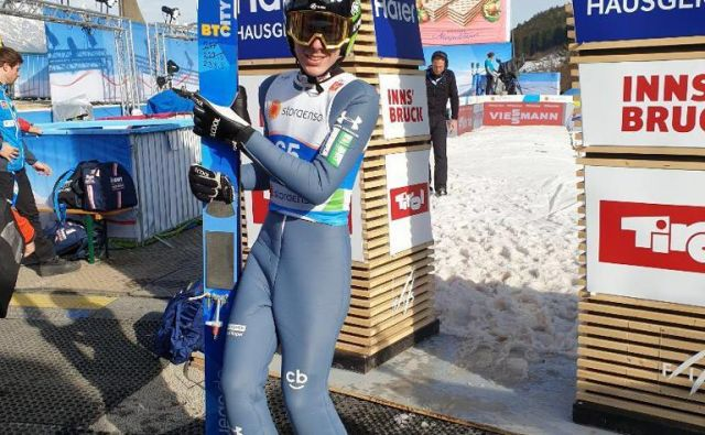 Timi Zajc je včeraj v Innsbrucku že opravil prva treninga, s katerima pa ni bil preveč zadovoljen. FOTO:Sloski