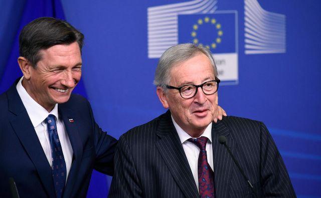 Juncker je prepričan, da je bilo Tajanijevo opravičilo za izjave v Bazovici pravilno. FOTO: John Thys/AFP