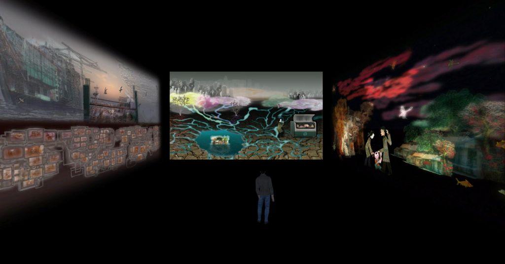 Astronomska finančna injekcija multimedijski umetnosti