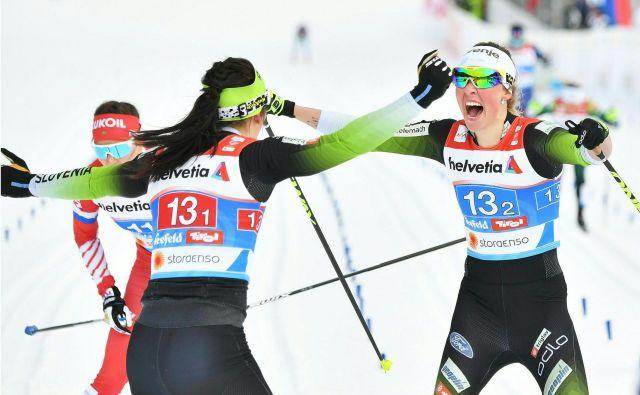 Anamarija in Katja sta se odrezali z izjemno voljo kot tudi psihološko trdnostjo. FOTO: AFP