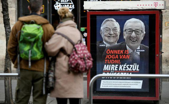 Madžarska kampanja proti Junckerju je videti kot kaplja čez rob. V EPP je čedalje več nezadovoljstva z ravnanjem madžarskega premiera. FOTO: Tamas Kaszas/REUTERS