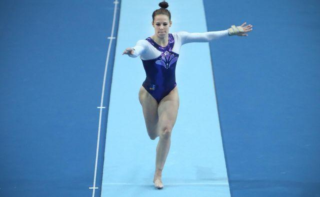 Tjaša Kysselef je za nastop prejela 13,833 točke. FOTO: Jure Eržen/Delo