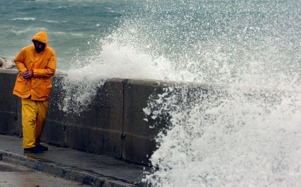 Orkanska burja na Hrvaškem povzročila veliko škodo