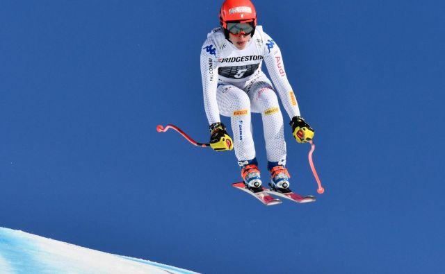 Federica Brignone je najbolje opravila s smukaškim delom kombinacije, nato pa prednost ubranila tudi v slalomu. FOTO: Fabrice Coffrini/AFP