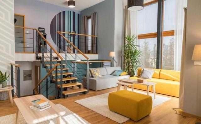 Številni odprti prostori prijetnih barv bodo stanovalcem omogočili tudi dovolj udobja in sprostitve. FOTO: Blaž Vatovec