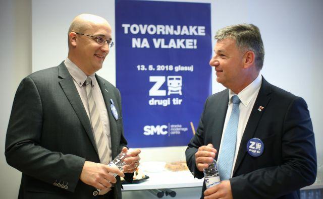 Leben in Gašperšič vztrajata, da pri vodenju projekta drugi tir nista storila ničesar nezakonitega. FOTO: Jure Eržen/Delo