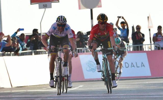 Primož Roglič je v zadnjih 2,8 kilometra pedala povprečno poganjal s kar 375 vati. FOTO: AFP