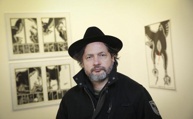 Iztok Sitar je šele tretji slovenski stripovski avtor, ki je dočakal retrospektivni pregled lastnega dela. FOTO: Jože Suhadolnik/Delo