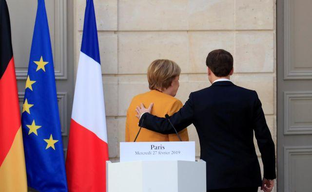 »Evropa je sposobna delovati, ko Nemčija in Francija nastopata s skupnimi predlogi,« je poudarila kanclerka. Foto Reuters