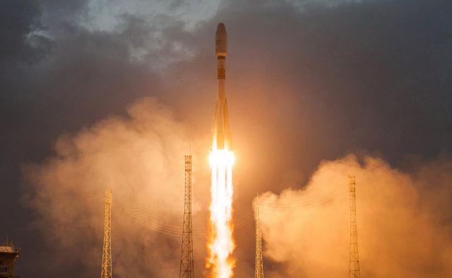 V floti raket Arianespace je tudi sojuz.<br /> FOTO: ESA/CNES/ARIANESPACE/Reuters