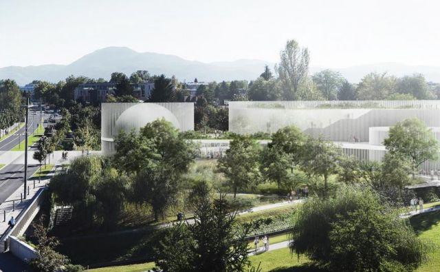 Center znanosti bo čez tri leta zrasel na območju med Barjansko cesto, Riharjevo cesto in Gradaščico. FOTO: Dekleva Gregorič arhitekti
