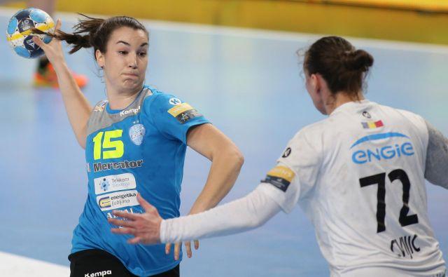 Tjaša Stanko je bila najboljša igralka Krima ob zmagi proti CSM Bukarešti. FOTO: Tomi Lombar