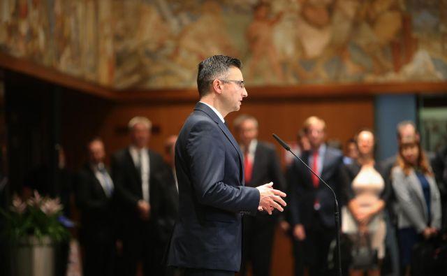 Marjan Šarec pravi, da davčna reforma cilja predvsem na srednji razred. FOTO: Jure Eržen/Delo
