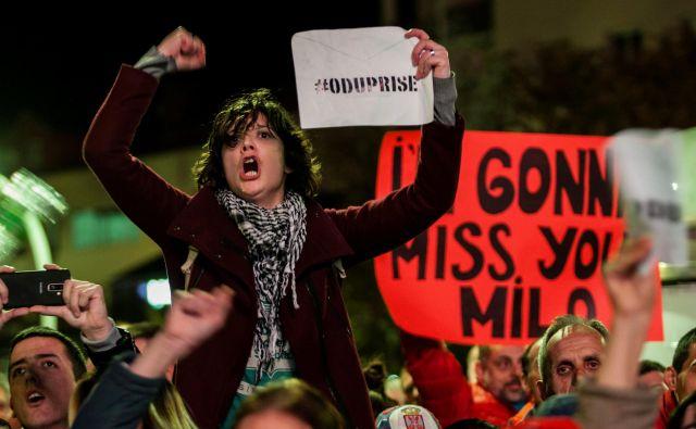Čeprav so tokratni protesti državljanov najbolj množični v zgodovini Črne gore, ni verjetno, da bodo sprožili spremembe. FOTO: Stevo Vasiljević/Reuters