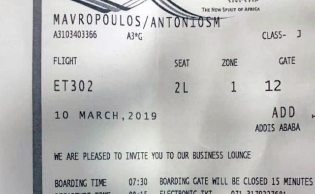 Neuporabljena letalska karta kot življenjska srečka Foto Vir Facebook