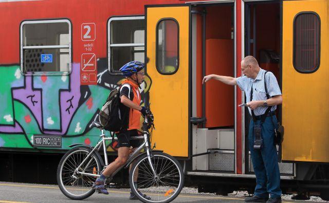 Naše železnice se le počasi prilagajajo kolesarjem.<br /> Foto Tadej Regent
