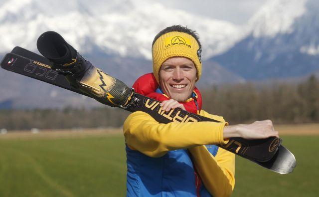 Turni smučar Nejc Kuhar se podaja novim izzivom naproti. FOTO: Mavric Pivk/Delo