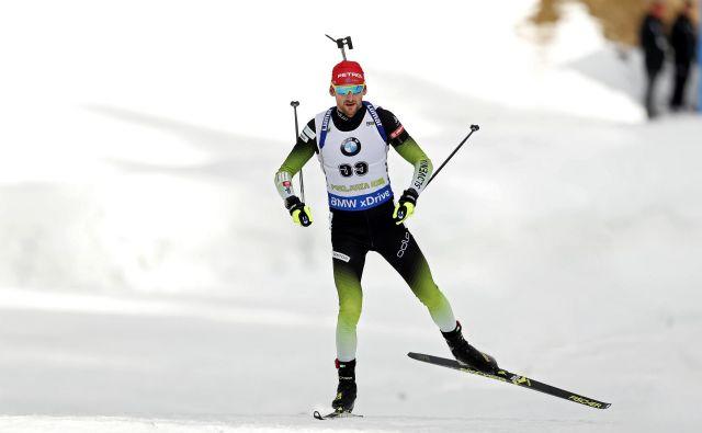 Jakov Fak med zasledovalno preizkušnjo, Pokljuka 09. december 2018 [biatlon,šport,Pokljuka] Foto Matej Družnik