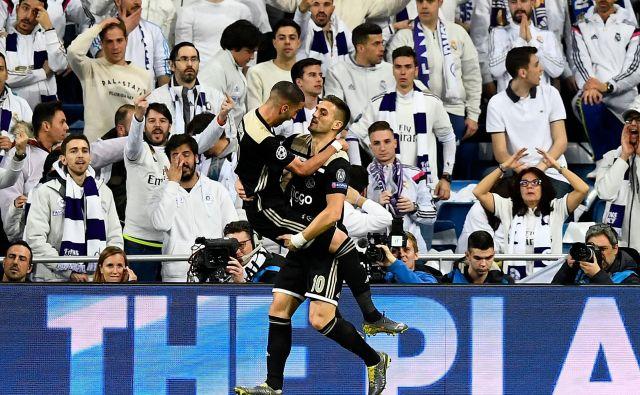 Dušan Tadić je bil veliki junak Ajaxovega podviga na štadionu Santiago Bernabeu. FOTO: AFP