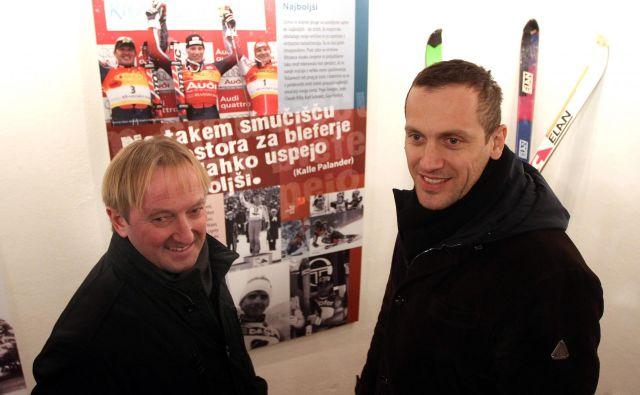 <br /> Dve legendi: Bojan Križaj in Jure Košir. FOTO: Voranc Vogel