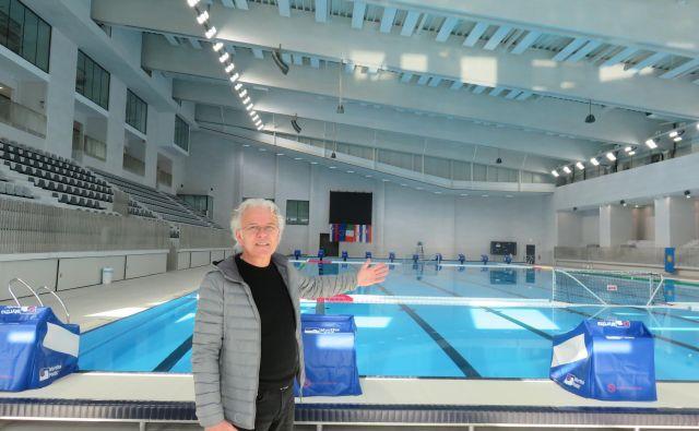 Bazen je namenjen tako profesionalnim športnikom kot rekreativcem, je napovedal Darij Novinec, v. d. direktorja Zavoda za šport Koper. FOTO: Nataša Čepar