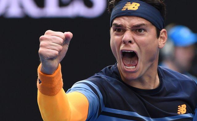V Podgorici rojeni Miloš Raonić je na lestvici ATP na 14. mestu. FOTO: AFP