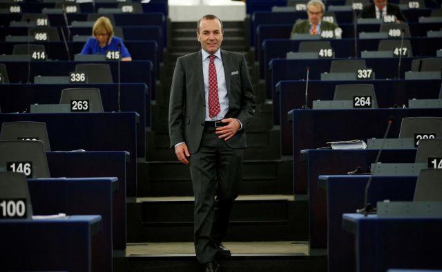 Manfred Weber je poudaril, da je Evropska unija gospodarsko enako močna kot ZDA. Foto: Reuters