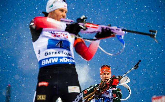Norvežani so bili za četrt minute hitrejši od Nemcev. FOTO: Jonathan Nackstrand/AFP