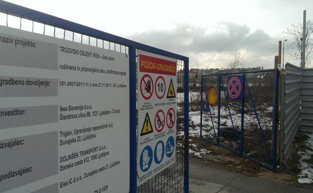 Gradbišče Ikea FOTO: Aleš Stergar