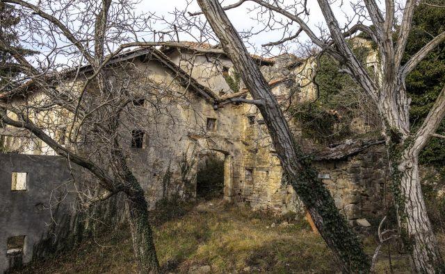 Zapuščena vas Slapnik v Goriških Brdih. FOTO: Voranc Vogel/Delo
