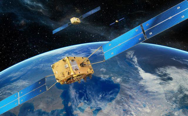 Konstelacijo Galilea bo sestavljalo 24 satelitov in še šest rezervnih, prvega so utirili leta 2011, trenutno pa jih nad nami leti 26. Foto Esa