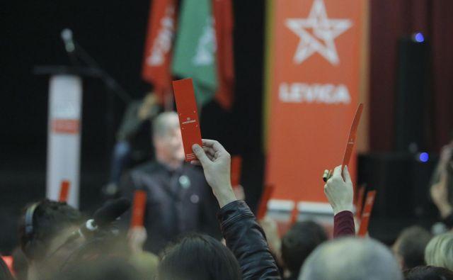 Drugi redni kongres stranke Levica 9. marca 2019 v Trbovljah. Foto Jože Suhadolnik