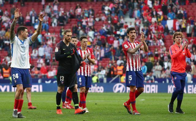 Jan Oblak in Atletico sta pred potjo v Torino opravila svojo nalogo v slogu, z minimalno zmago. FOTO: Reuters