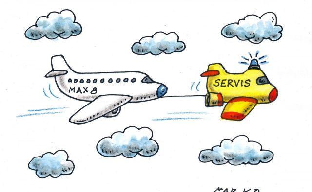 Boeing bi lahko na več načinov postal povod za nov pogled na industrijske prvake. KARIKATURA: Marko Kočevar