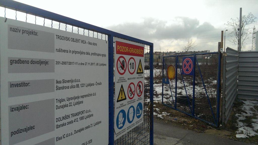 Ikea oddala vlogo za pridobitev gradbenega dovoljenja