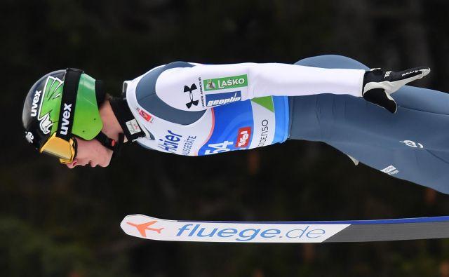 Od Timija Zajca je bilo pričakovati največ, a je njegovih 120.5 metra pomenilo nazadovanje na 6. mesto. FOTO: Joe Klamar/AFP