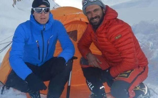 Tom Ballard (levo) in Daniele Nardi sta umrla na deveti najvišji gori sveta. FOTO: Facebook Danieleja Nardija