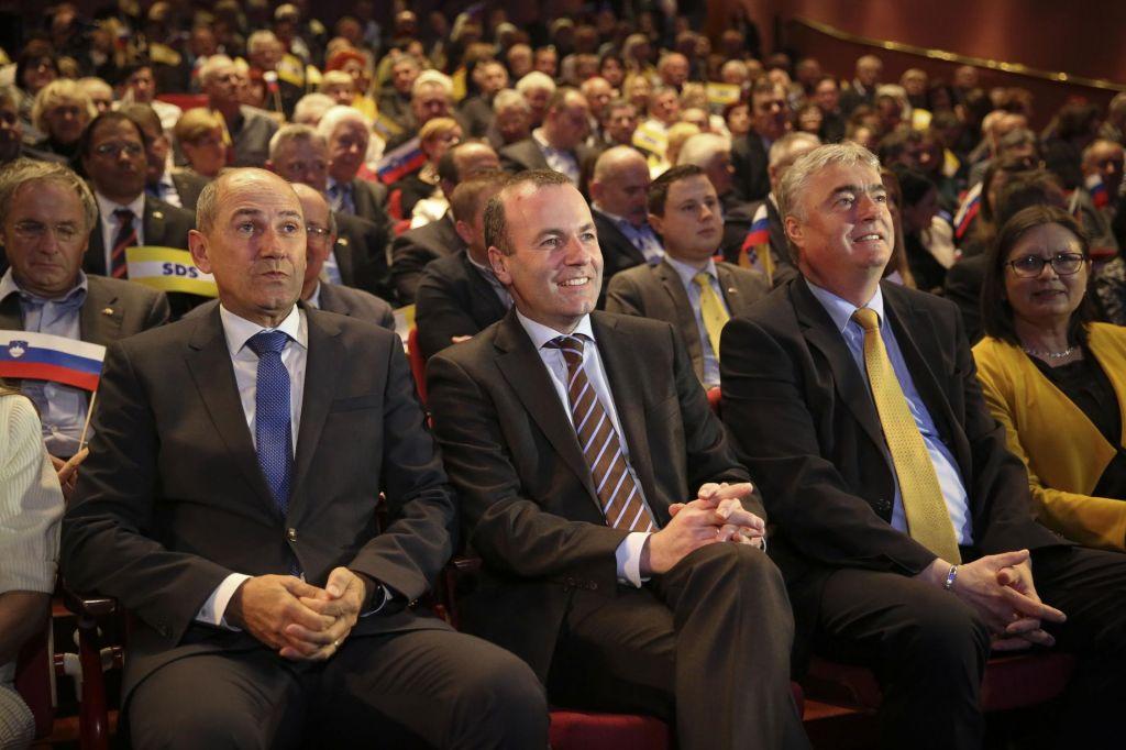 FOTO:Janša o Orbanovi Fidesz: Biti velika družina pomeni biti sposoben živeti z razlikami